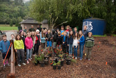 Caley Hirsch's science class began a new restoration project in a corner of Lefty Gomez Field in 2014.