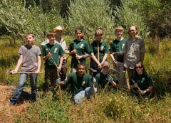 A team of North Bay Conservation Corps trainees helped with weeding out periwinkle.